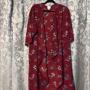 Rare LuLaRoe Shirley Floral Kimono M